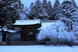 雪の神護寺書院