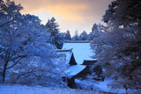 神護寺 雪の五大堂と毘沙門堂