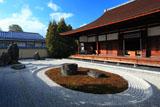 大徳寺龍源院 冬晴れの一枝坦と方丈