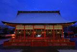 伏見稲荷大社 薄化粧した外拝殿