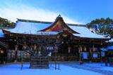 北野天満宮 雪の拝殿