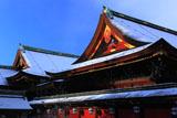 北野天満宮 雪の社殿