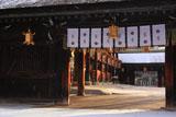 北野天満宮 雪舞う社殿