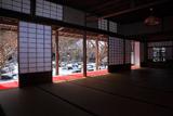 圓光寺 書院からの雪化粧庭園