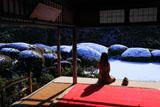 詩仙堂庭園の雪景色