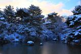 円山公園 結氷のひょうたん池