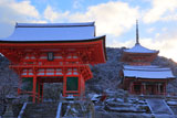 雪の清水寺堂塔