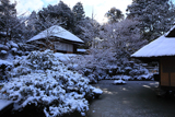 京都 青龍苑の雪景色