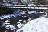 京都八瀬 八瀬川の雪饅頭
