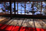 実光院 客殿から雪景色の契心園
