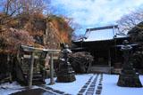 法性寺 雪化粧した本堂