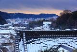 鎌倉薬王寺 雪化粧