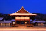 下鴨神社 雪化粧の本宮
