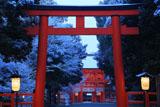 下鴨神社 大鳥居と雪化粧