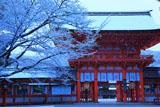 下鴨神社 雪の楼門