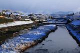 下鴨 雪化粧の高野川