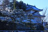 二条城 雪化粧の西南隅櫓