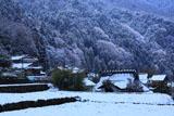 京都八瀬 雪化粧の秋元町