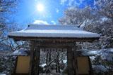 寂光院 冠雪の山門