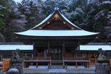 出雲大神宮 雪化粧の拝殿