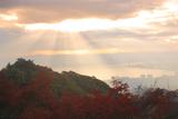 比叡山 紅葉と天使の梯子