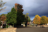 水火天満宮 秋色の扇町公園の虹