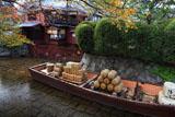高瀬川 一之舟入の桜紅葉と高瀬舟