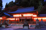 熊野若王子神社 提燈と紅葉