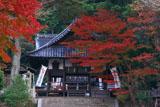 京都平岡八幡宮 紅葉と拝殿