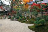 立本寺 南庭と紅葉