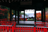 建勲神社 拝殿と紅葉の社殿