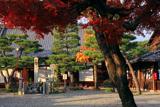 六道珍皇寺 紅葉と三界萬霊供養塔