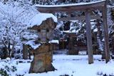 京都久多 雪化粧の志古淵神社