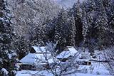 京都久多 雪化粧の上の町