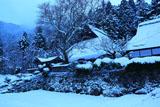 京北 地蔵院と雪景色