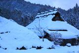 京都広河原 雪化粧の杜若家
