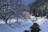 京都広河原 雪景色の上桂川