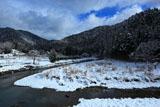 京都花脊 八桝町の雪景色