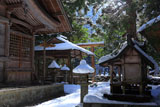 京都 花脊神社の冠雪