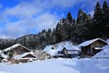 京都花脊 雪景色の別所町