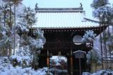 源光庵 雪の山門