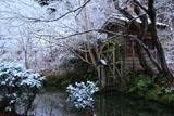 三宅八幡宮 雪化粧の水車小屋