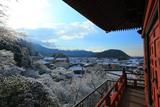 三明院 多宝塔から上高野の雪景色