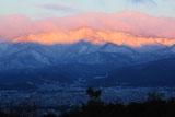 将軍塚から雪化粧の愛宕山