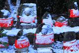 三鈷寺 雪化粧の石仏