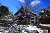 妙覚寺 雪景色の庫裏