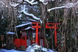 水火天満宮 雪景色の六玉稲荷社