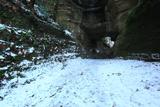 積雪した釈迦堂口