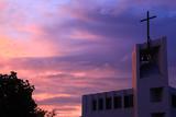 夕焼けの金沢教会