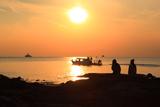江の島 夕陽と遊覧船